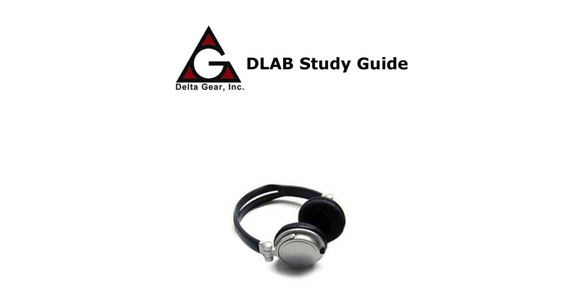 delta gear dlab study guide